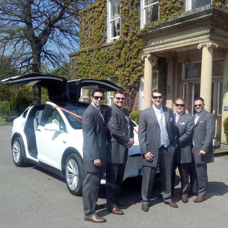 Falcon Tesla Wedding Cars Grooms car