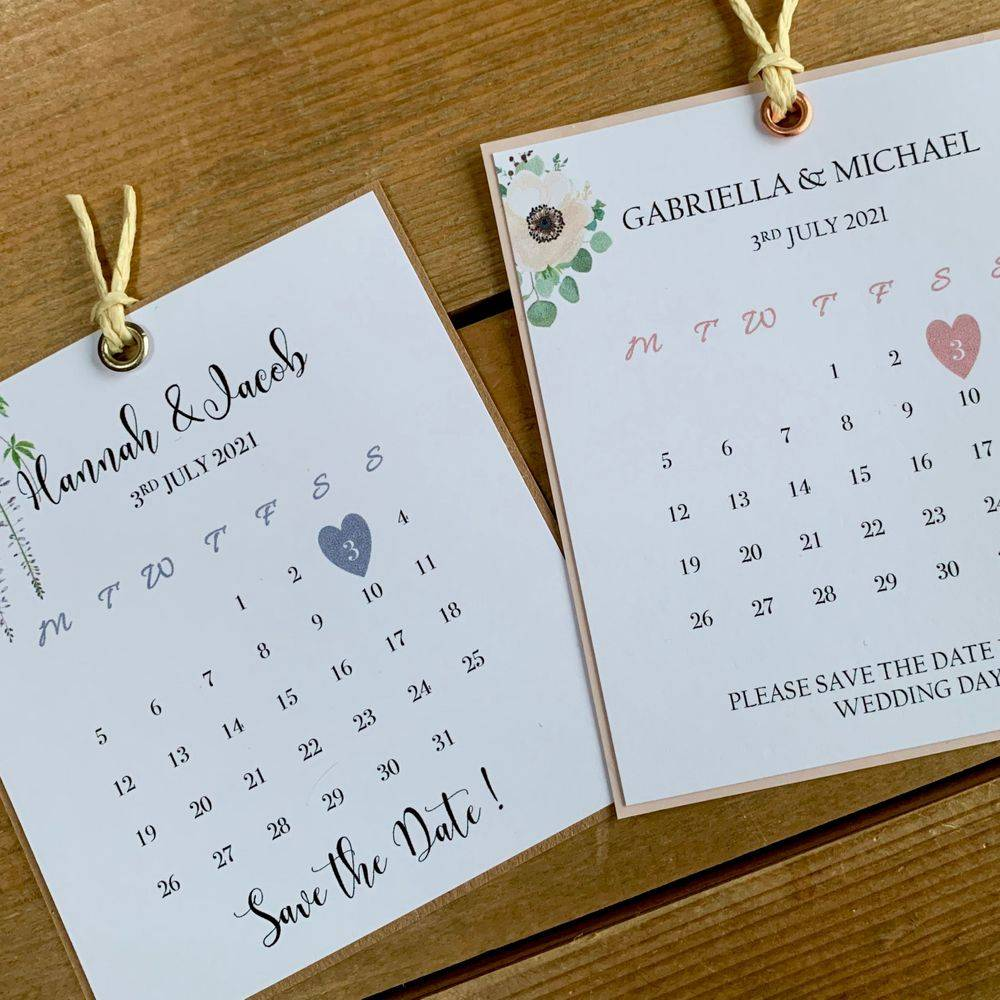 Save the Date with glitter