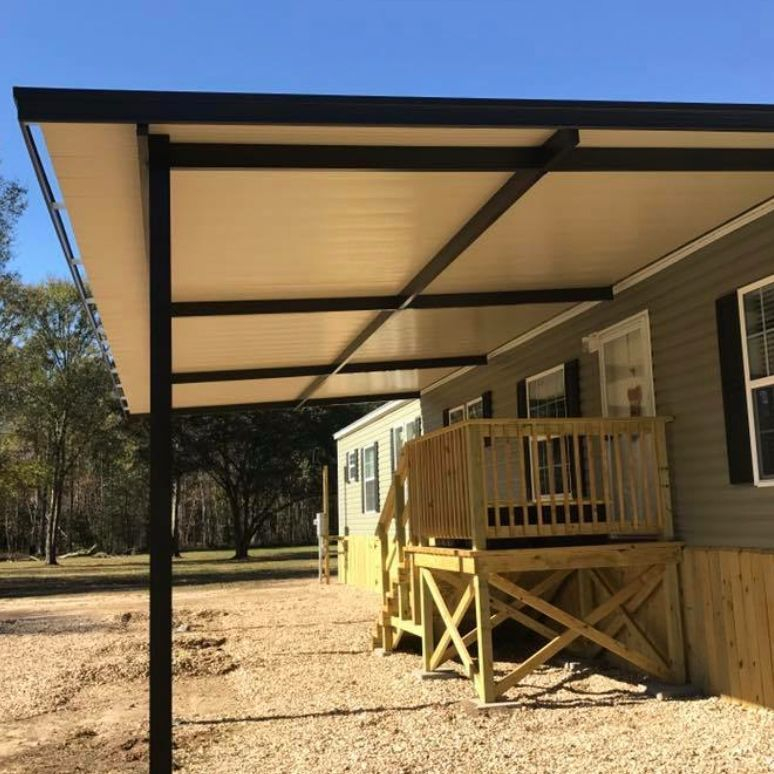 patio cover with false gutter