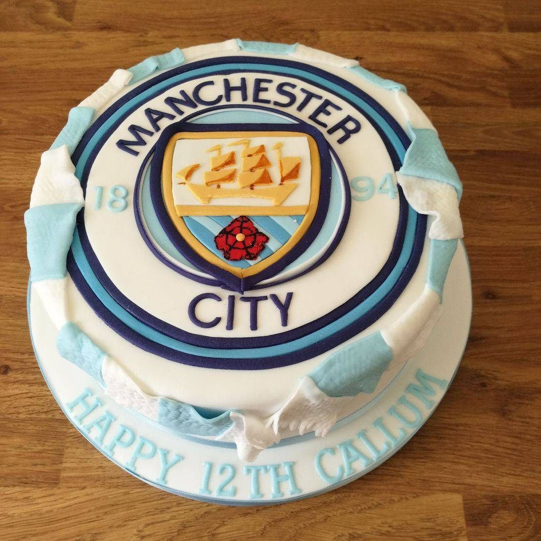 Manchester City Football Club Cake