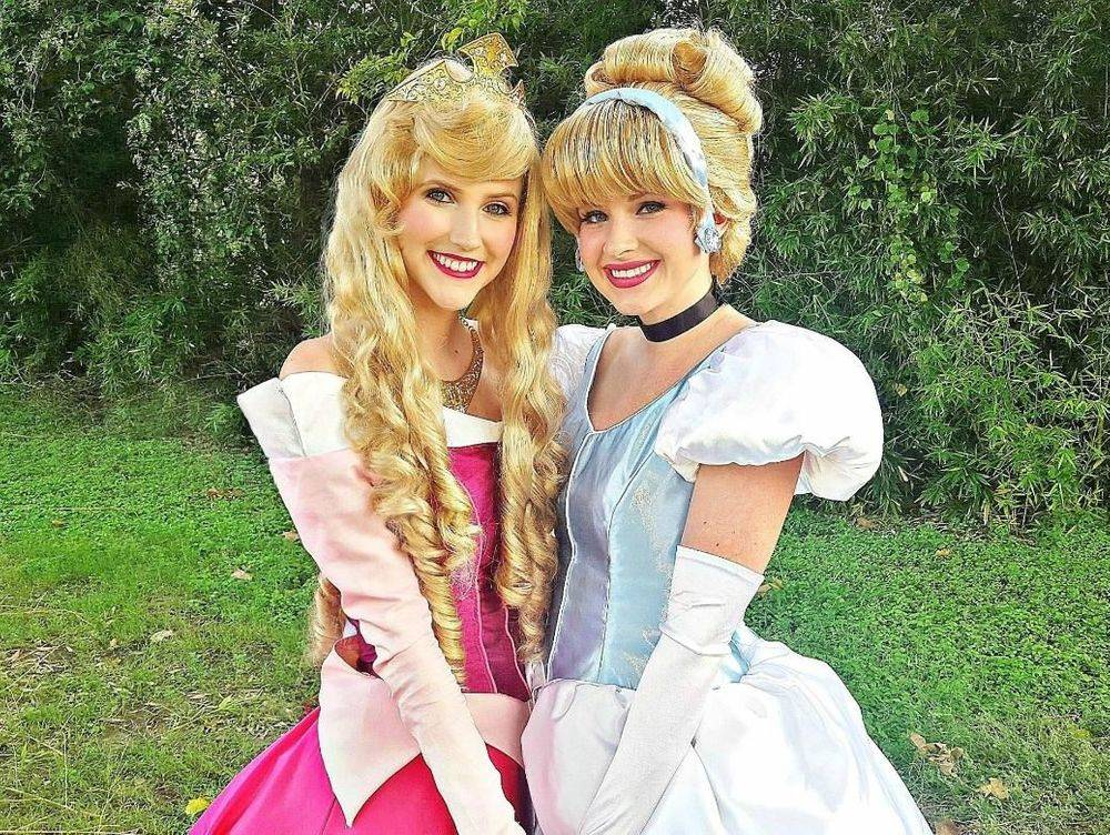 Sleeping Beauty and Cinderella Party Characters by Fairytale Friends of San Antonio