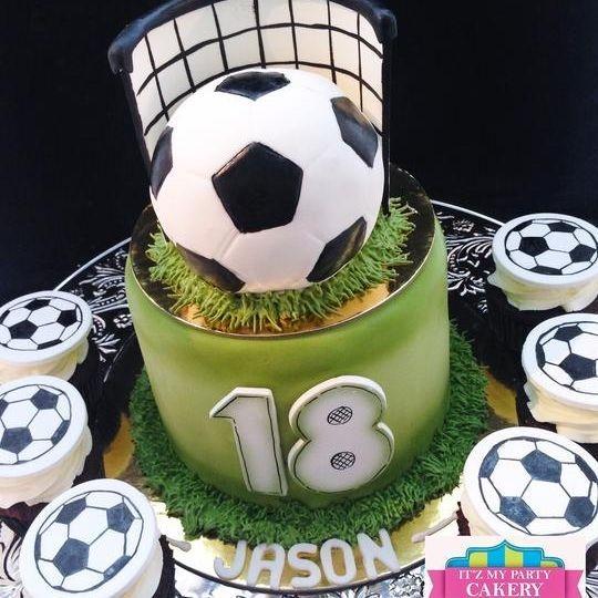Custom Soccer Net Cake Milwaukee