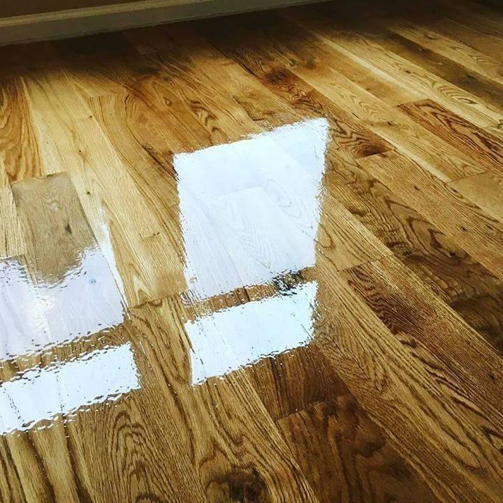White Oak Glue Down Install