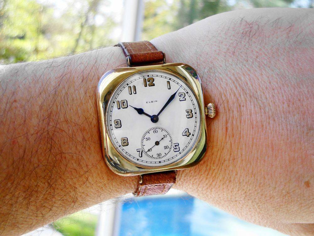 Incredibly RARE 1918 BEHEMOTH Size 12s 43mm WWI Elgin Admiral Benson Trench Watch