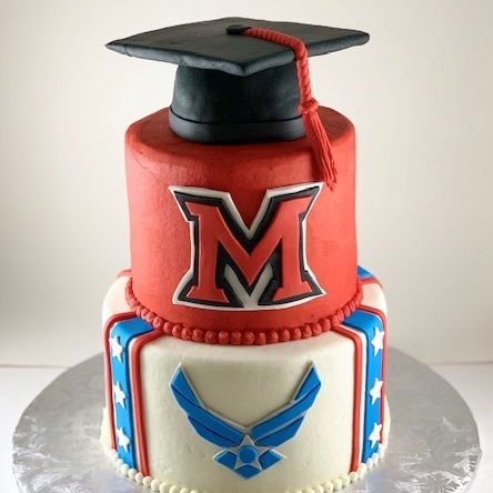 Miami University Ohio Air Force Graduation Cake