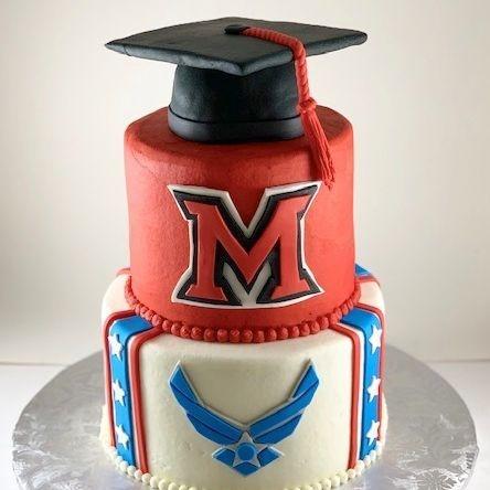 Miami University Ohio Air Force Graduation Cake