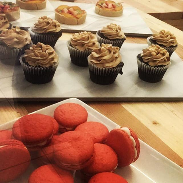 Macaroons, Caramel Chocolate Cupcakes, German Chocolate Cupcakes