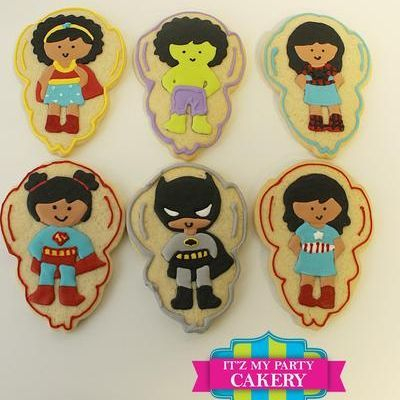 Superhero girl cookies Milwaukee