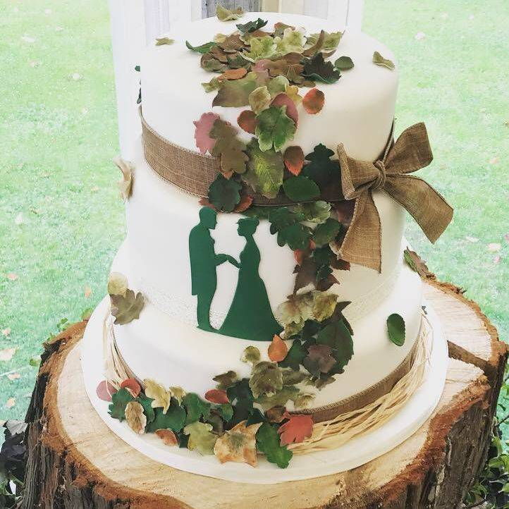 Autumn Themed Wedding cake  Fabu-Lous Cakes