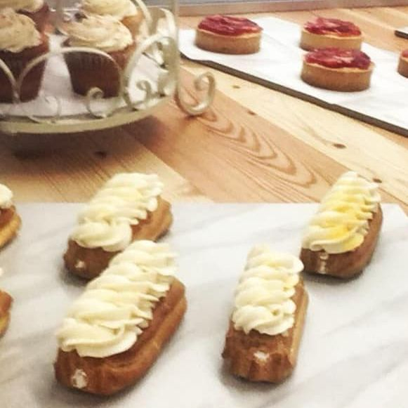 Lemon Cream Eclairs, Cupcakes, Strawberry Tarts