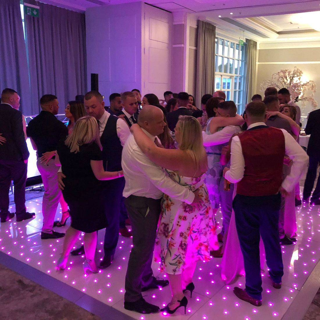Forest Of Arden Led Dancefloor Hire Wedding
