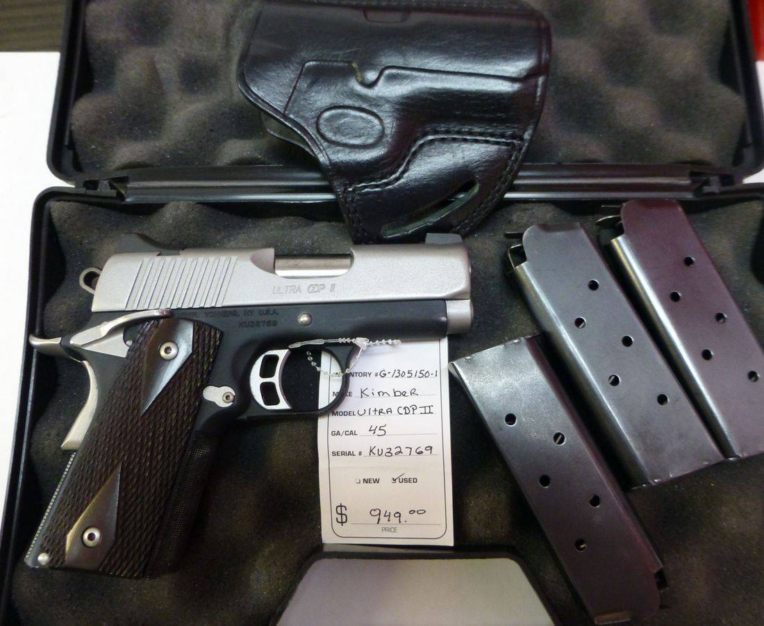 45 Caliber Kimber Ultra CDP II Handgun in a Case With Three Magazines