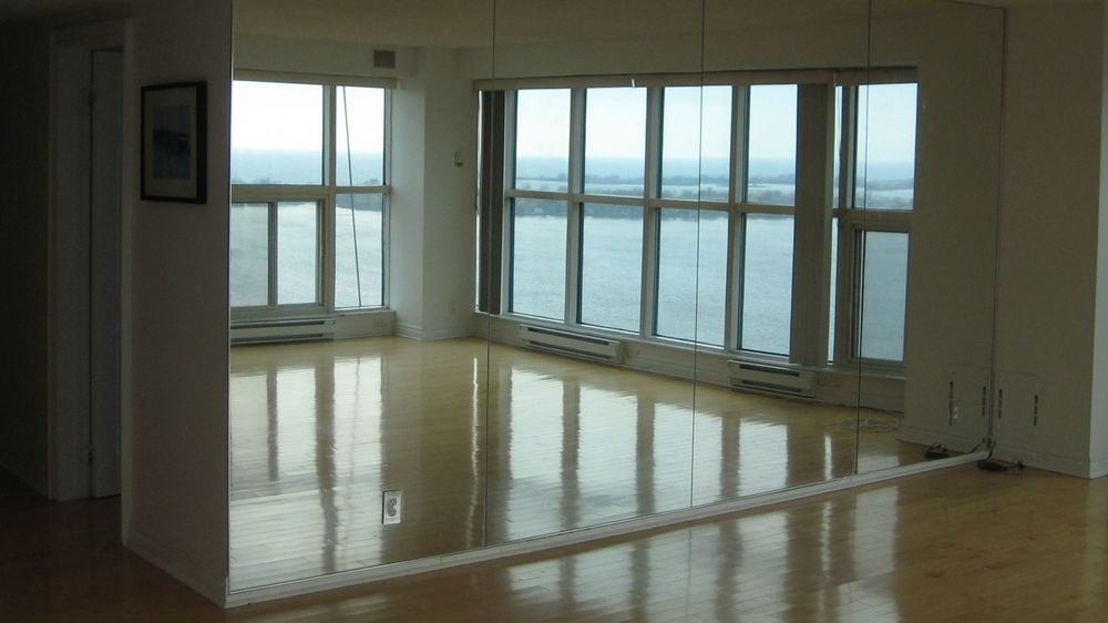 Mirror walls for Dance, Yoga, and Teakwondo Studios. We have a vast array of experience installing custom mirror walls in the Greater Toronto Area.