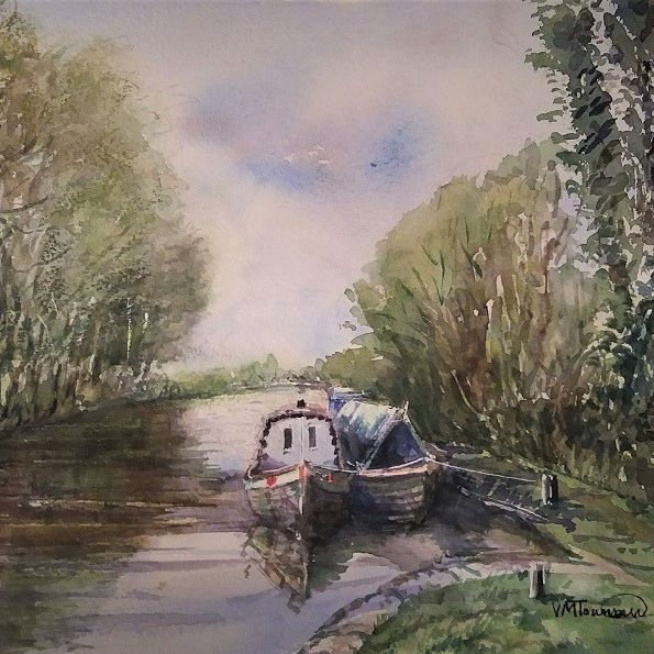 Saul Junction  Gloucestershire barge canal longboat shade