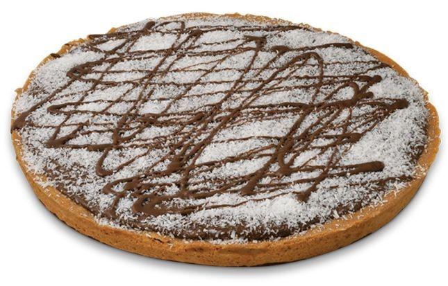 Mürbeteig Kuchen mit Gianduia Schokoladenfüllung & Kokosnuss