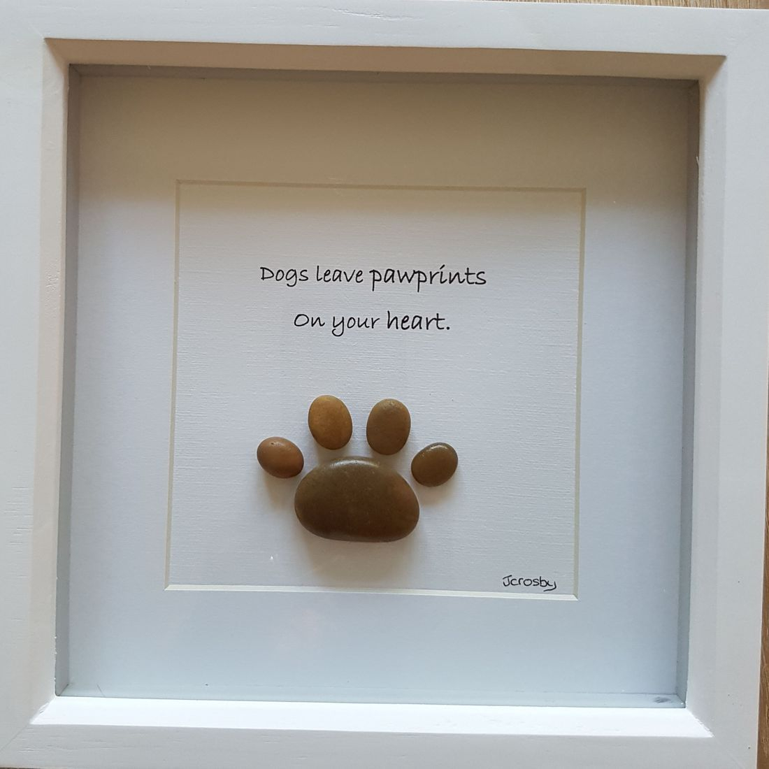 pawprint  pebble art