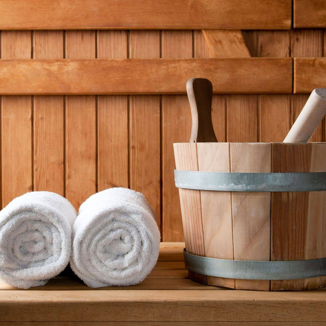 Picture of a Sauna Interior no people