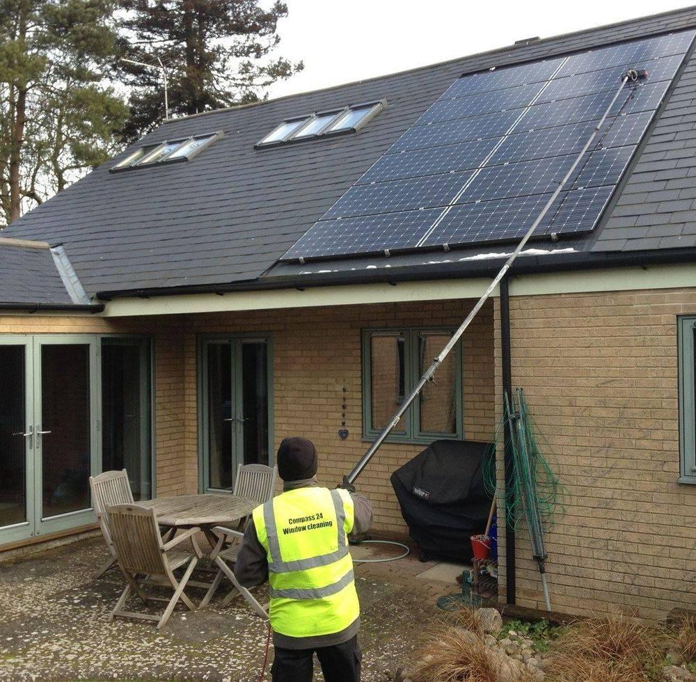 Solar panel washing cleaning