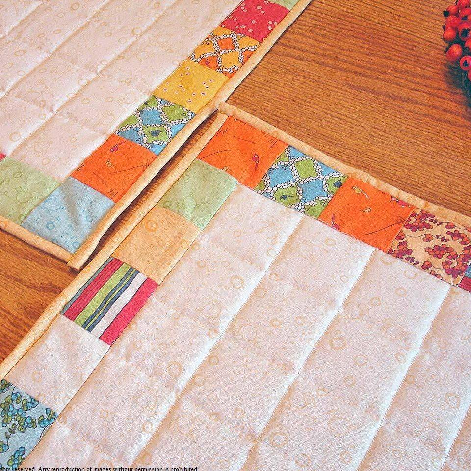 Custom made quilted placemats