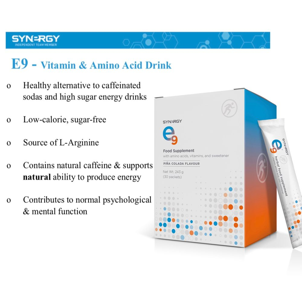 energy drink, e9, natural supplement, vitamins
