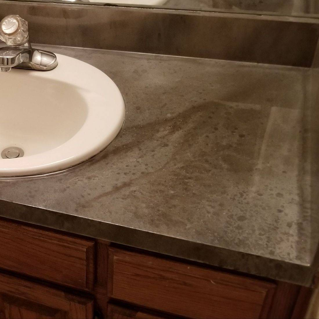 CounterFIT LLC - Bathroom countertop installation