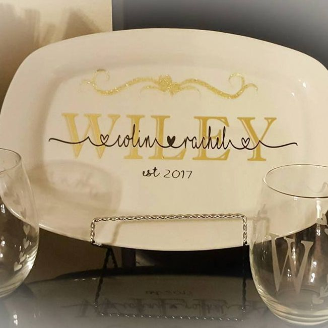 wedding anniversary gift personal custom decoative