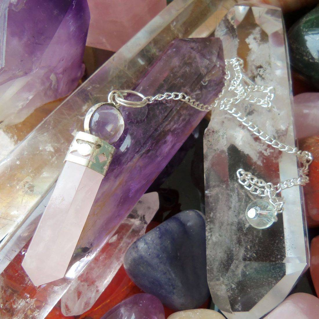 Rose quartz pendulum