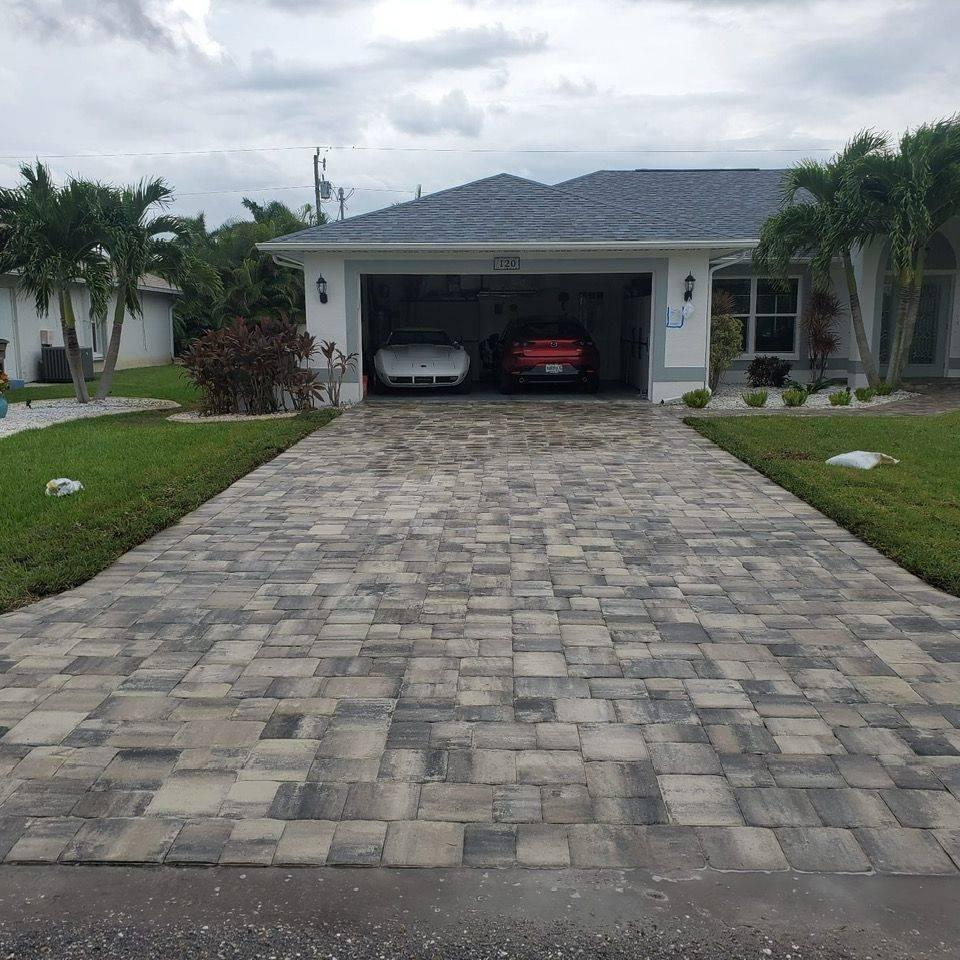 driveway cape coral taupe vanilla charcoal
