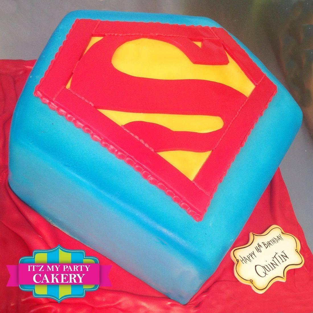Superman Carved Dimensional Cake Milwaukee
