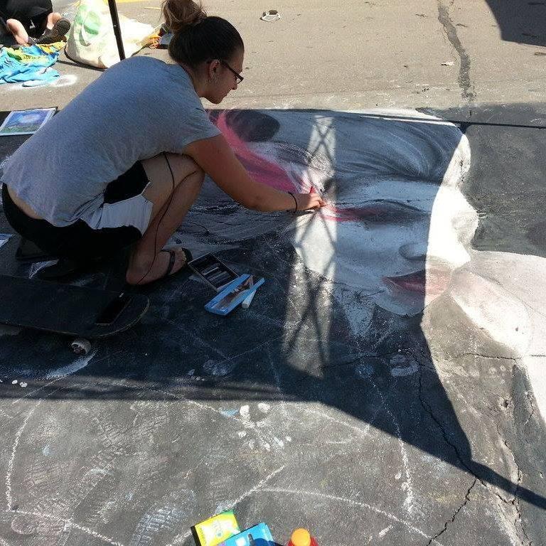 Street Painting Festival 2016 Brealyn Raine LMT
