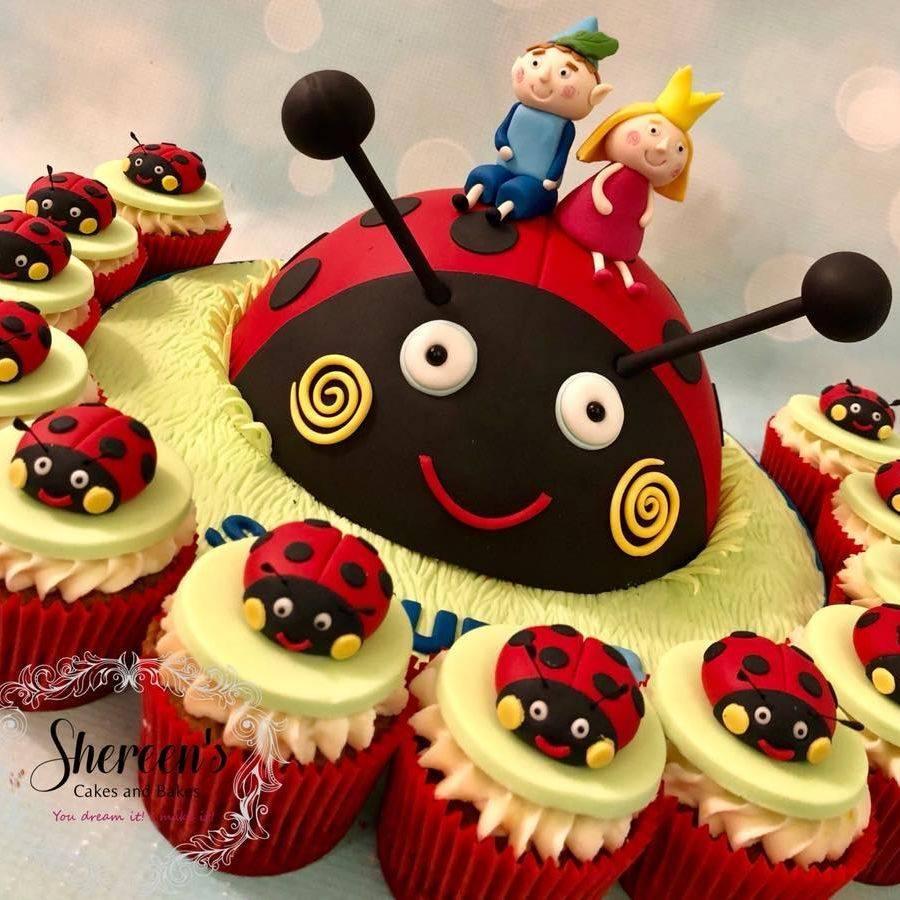 Gaston Ladybug Ladybird Ben Holly Cupcakes