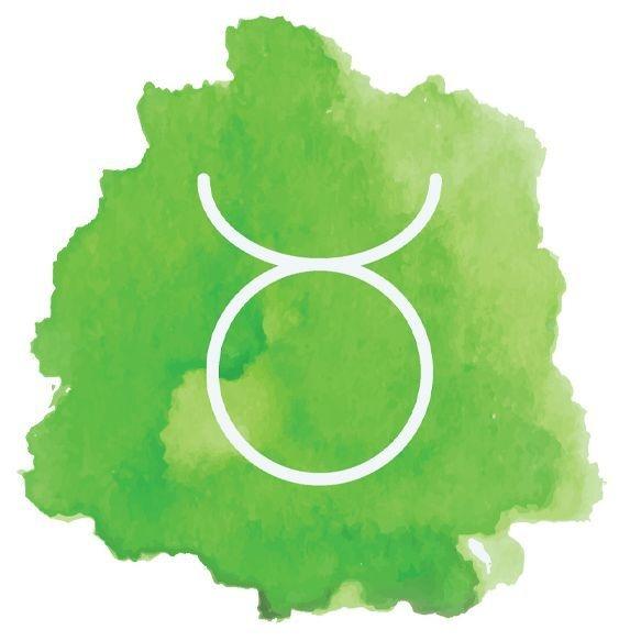 Image: watercolor Taurus sign