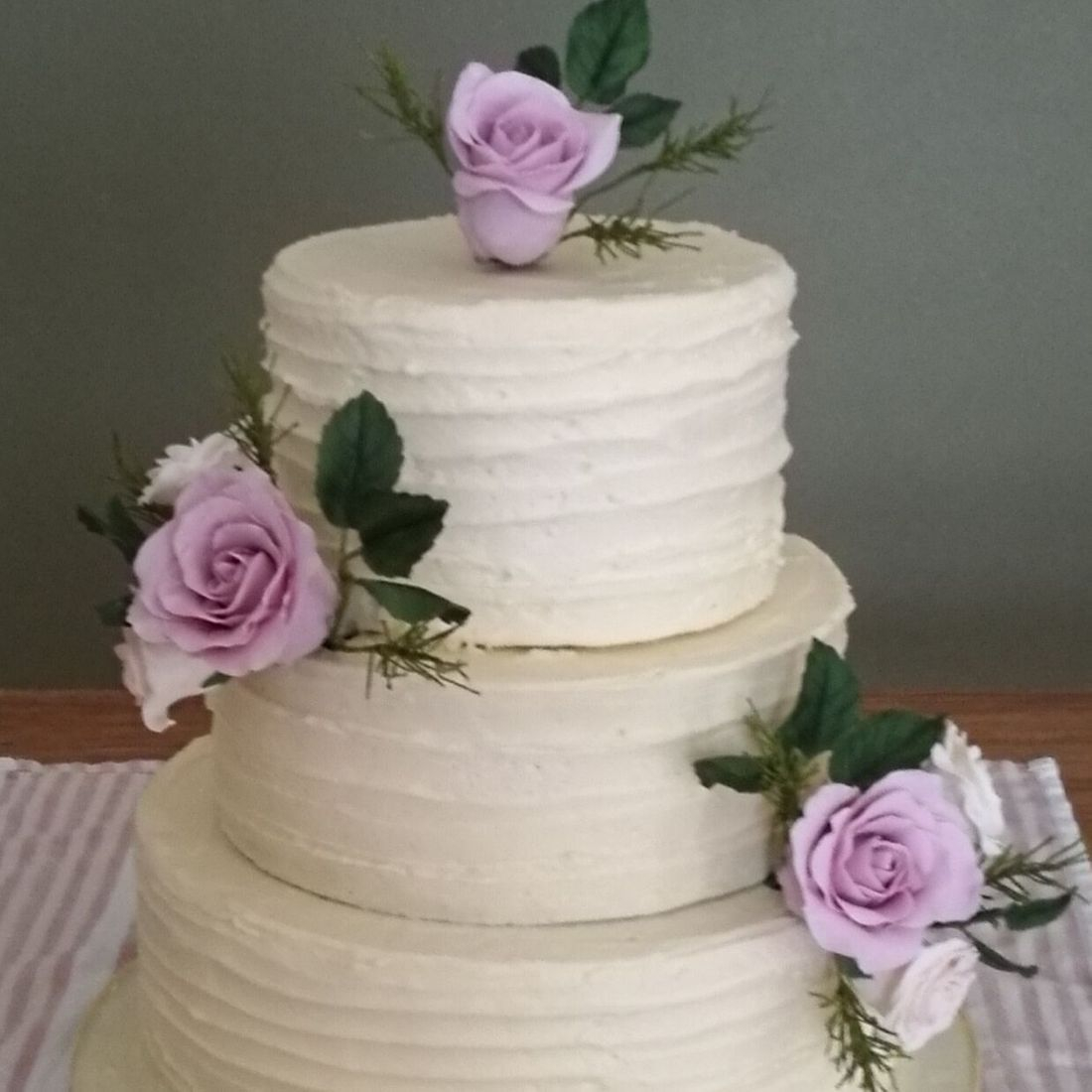 Rustic Butter Iced Wedding Cake