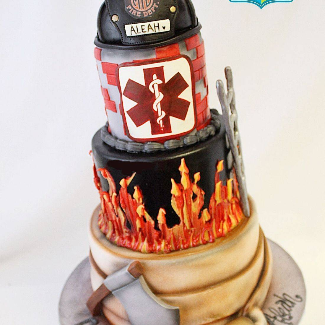 Custom  Fireman Graduation Cake  Milwaukee