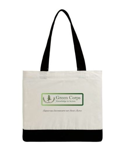 Green Corps Cotton Tote Back
