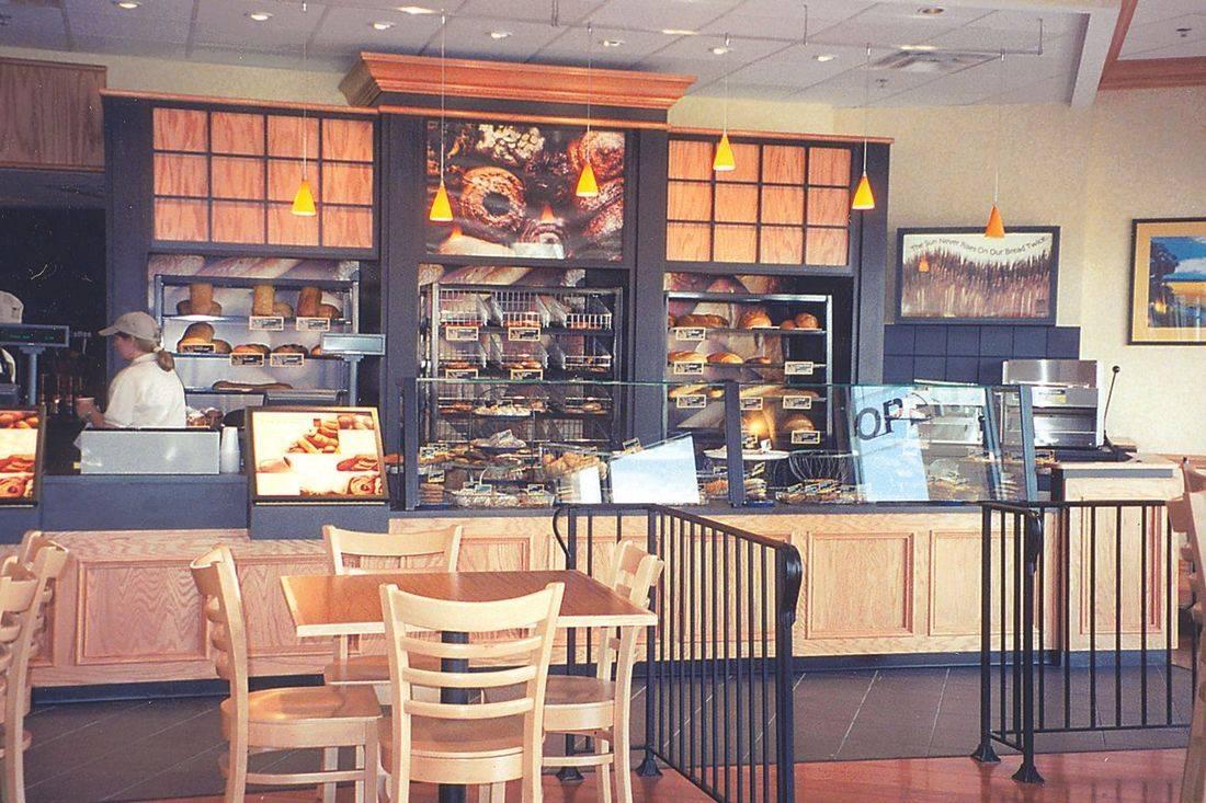 Atlanta Bread Company in Deerfield Beach cabinets & bread display