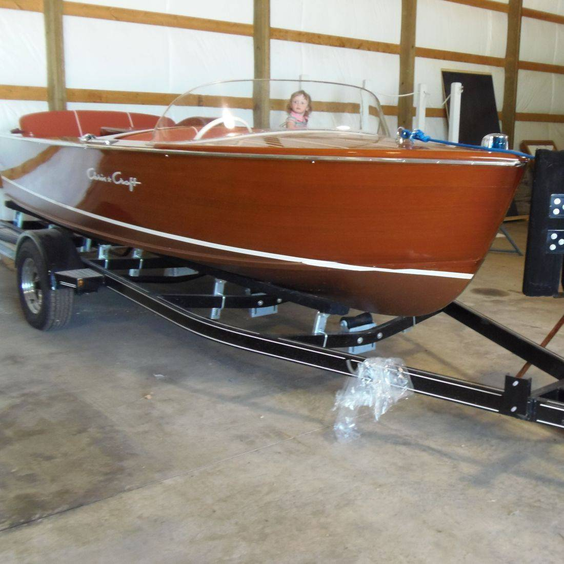 Completely refinished Chris Craft Sportsman