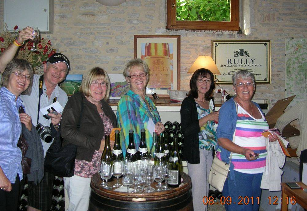 Wine Tasting. Cumbria Wine Tasters. Burgundy Vineyard