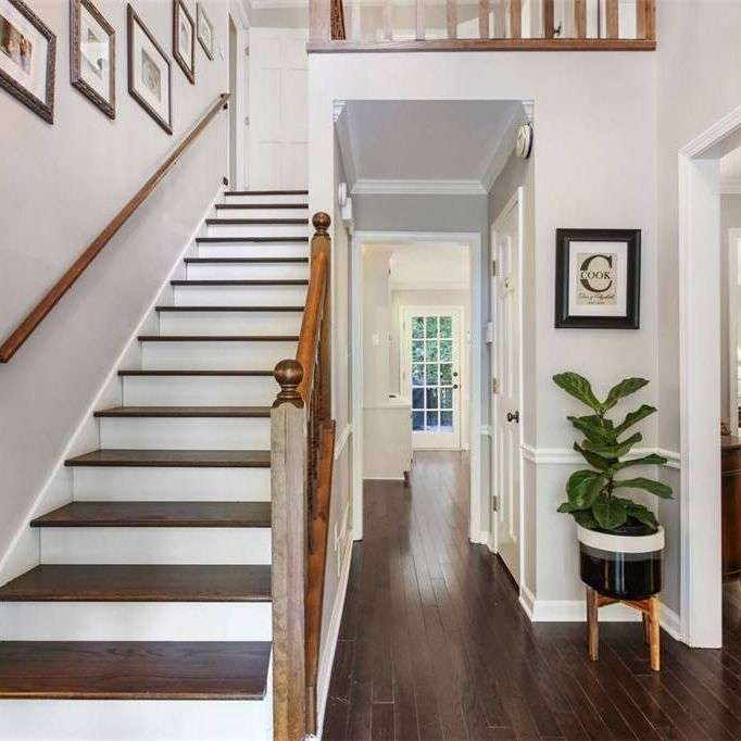 wood floors, stair treads, custom wood floor stain