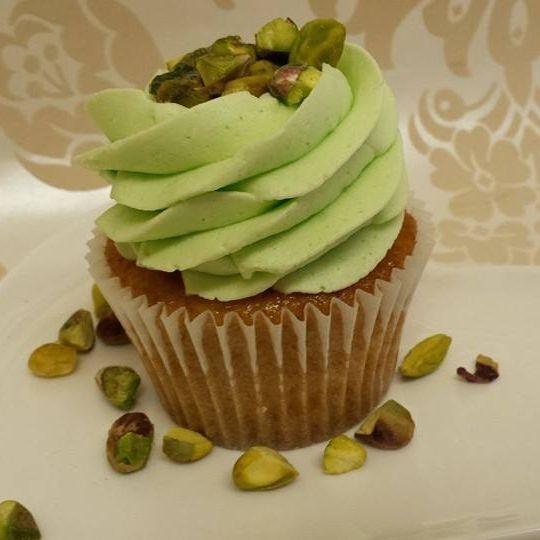 Pistachio Vegan Cupcake