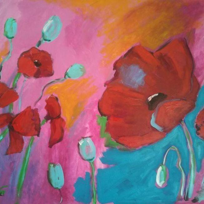 Poppies Bright