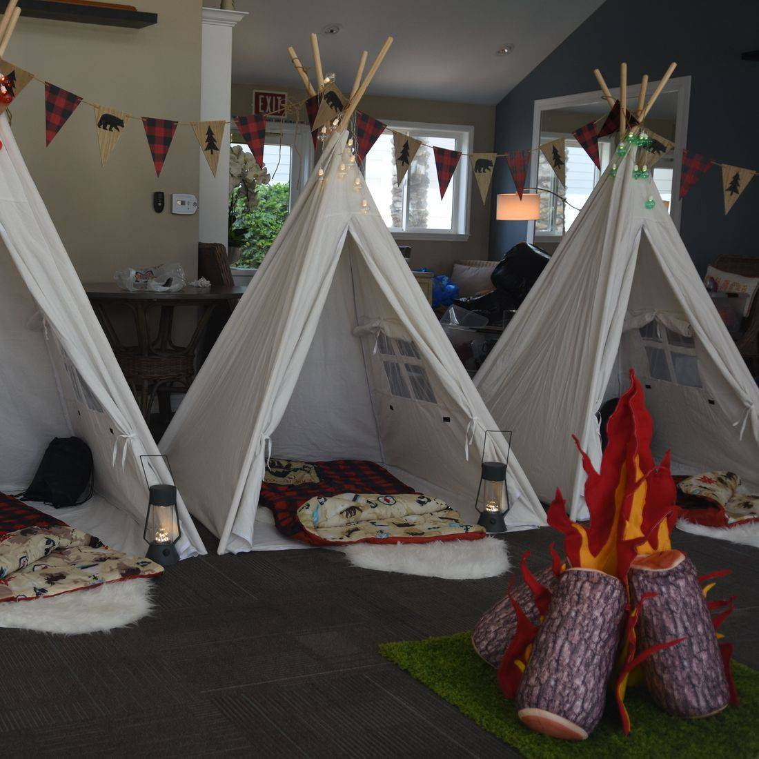 Kids party rentals, teepee rentals, party rentals, Happy Campers, Happy Glampers, birthday, kids, teepees, indoor, campsite, campsites, fun, adventure, new, s'mores, Newport Beach, CA, Orange County