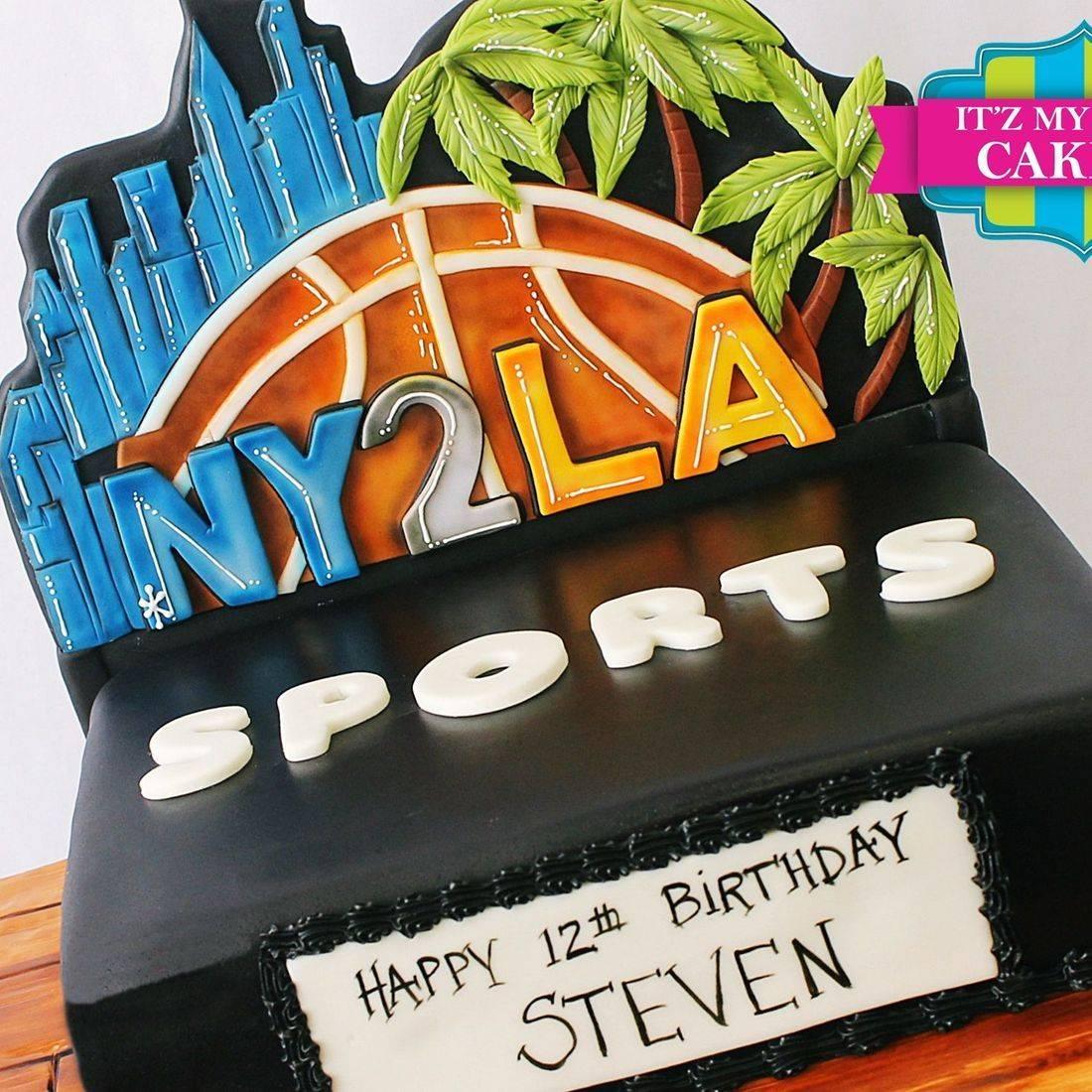 Custom  NY2LA Basketball Cakes Milwaukee