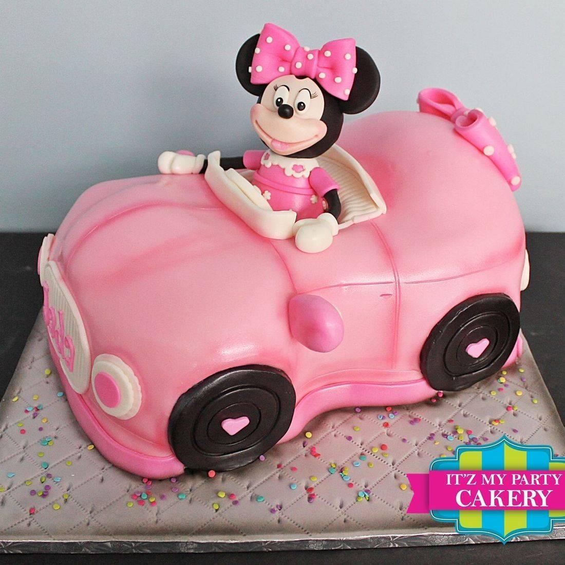 Minnie Mouse Car Cake Carved Dimensional Cake Milwaukee