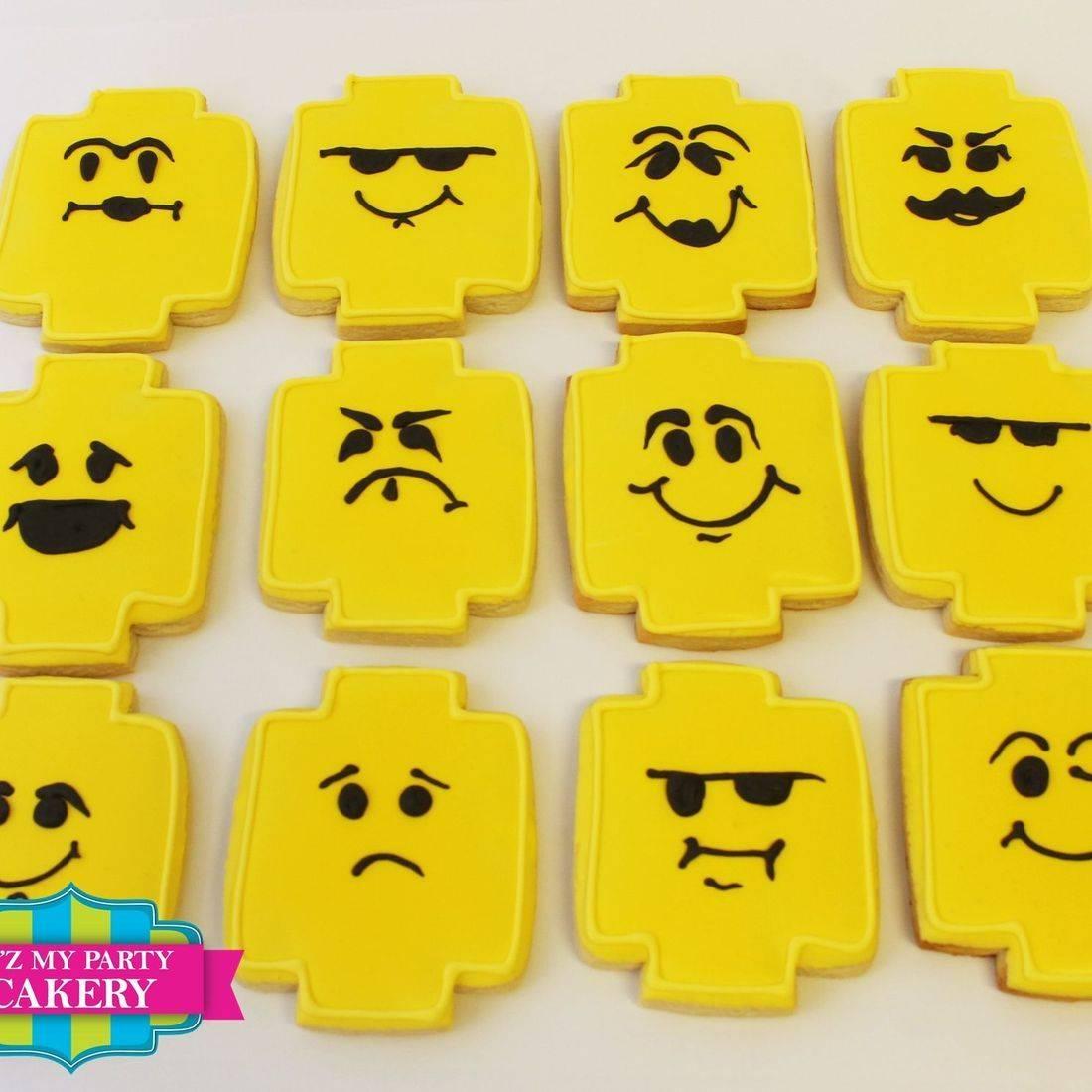 Lego Emoji cookies Milwaukee