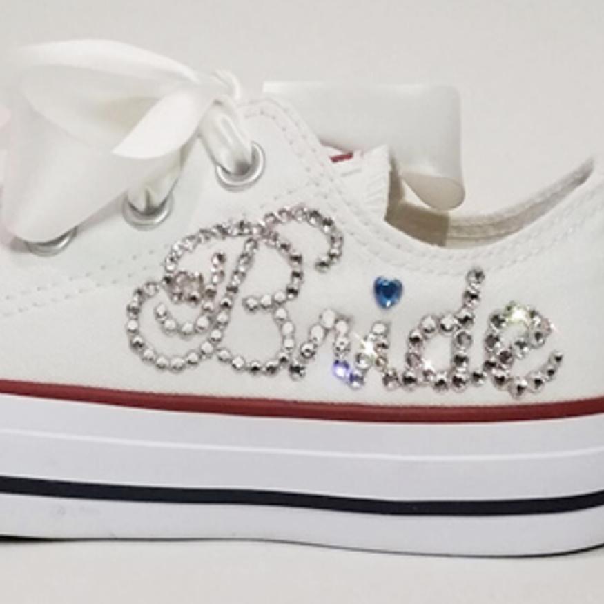 custom bridal converse crystal bride shoes chucks nicky rox