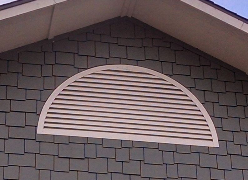 Aluminum round top gable vent