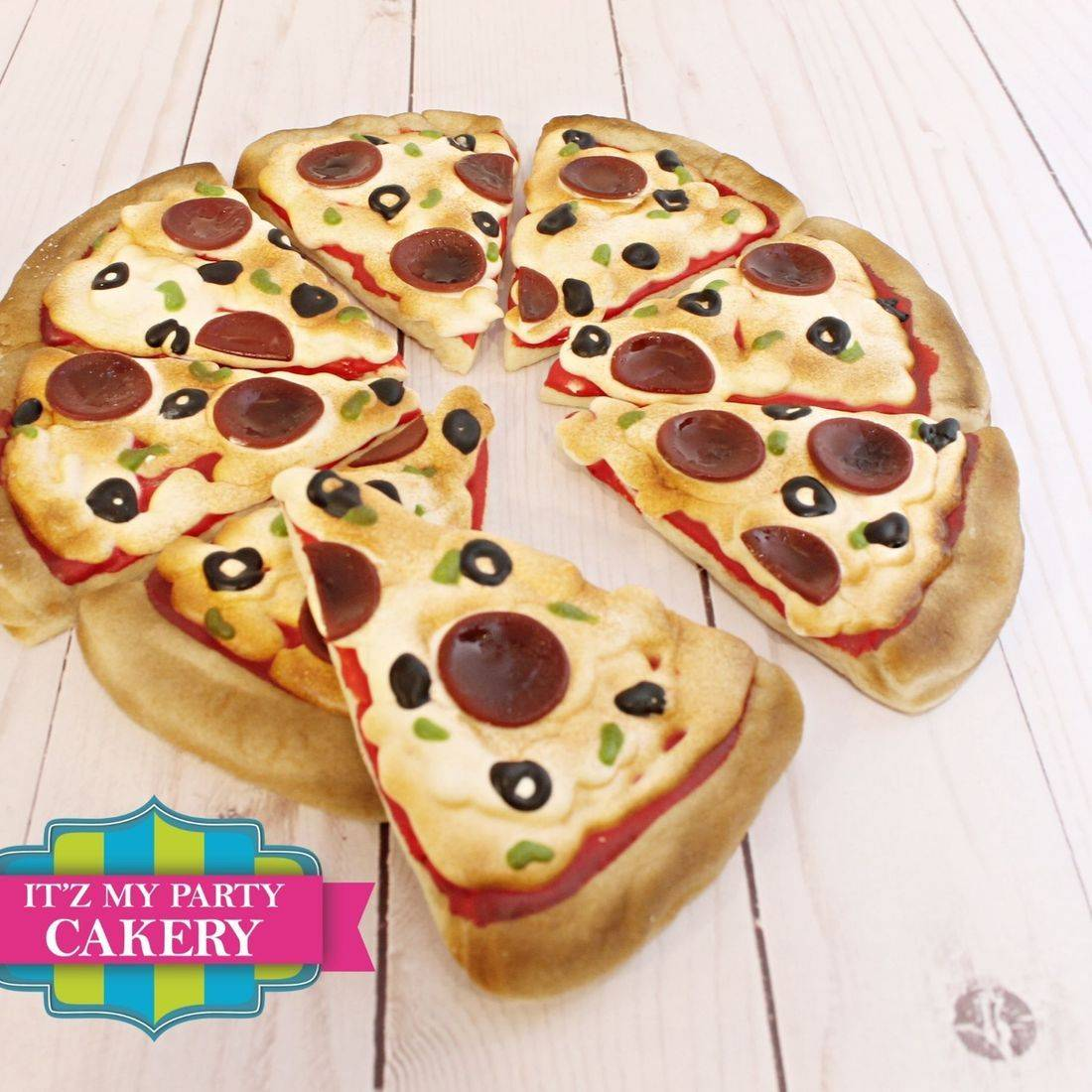 Pizza Slice Cookies