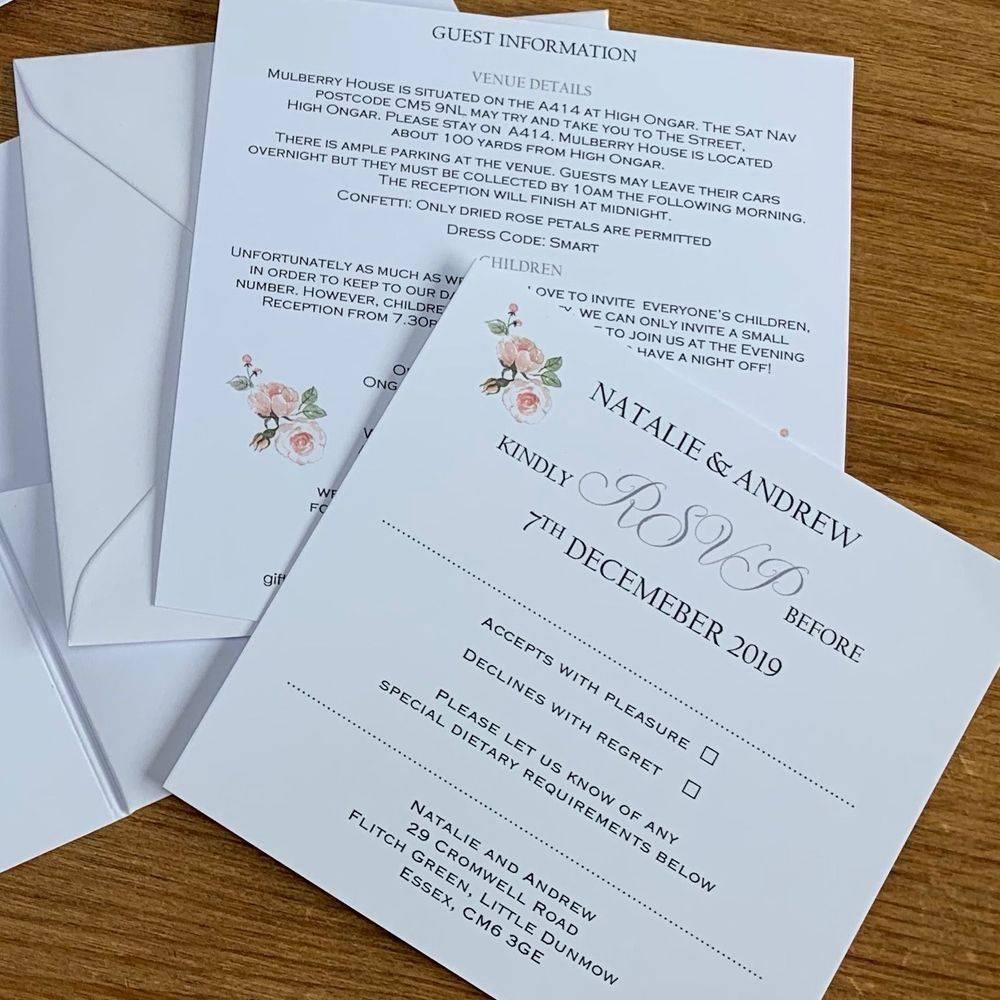 Botanical wedding invite
