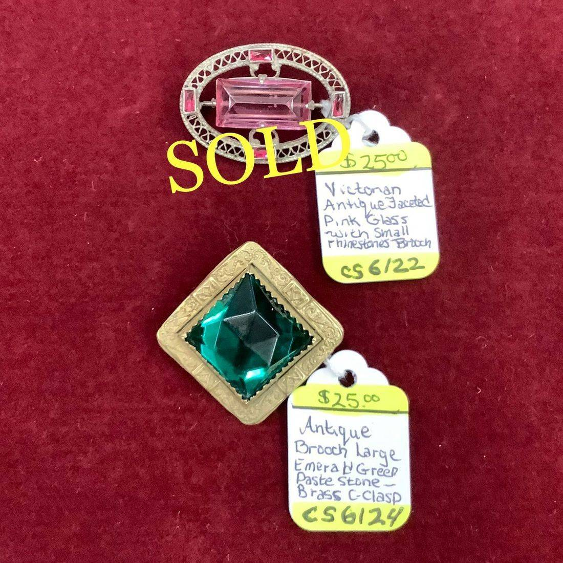 Victorian Antique Brooches  $25.00 each